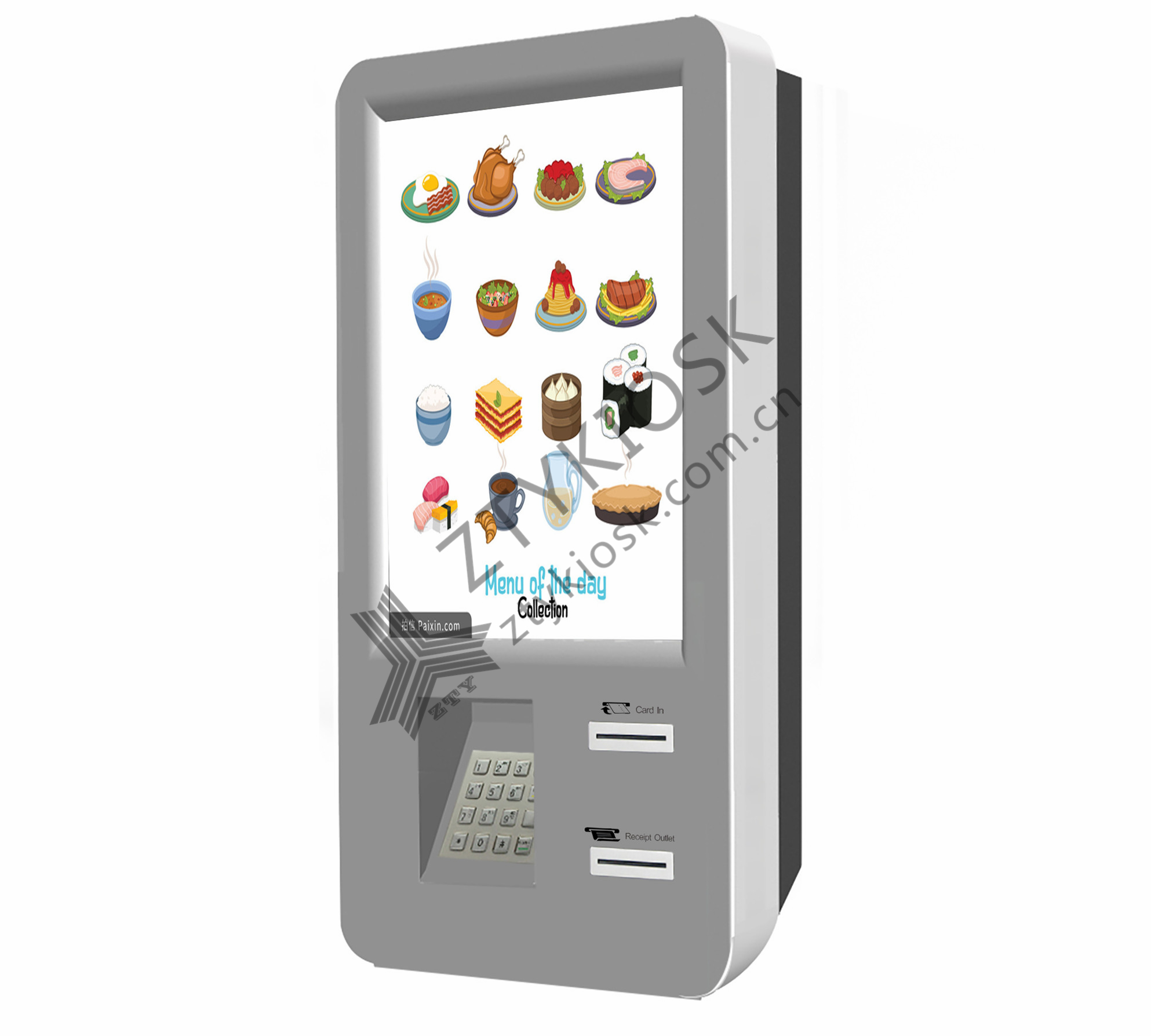 Wall-Mount Restaurant Food-Ordering Kiosk